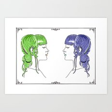 Gammas and Betas Art Print