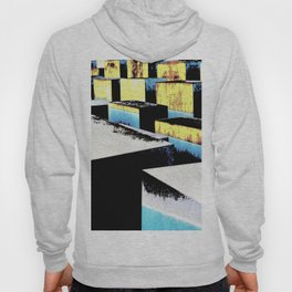 Yellow and blue cubes Hoody