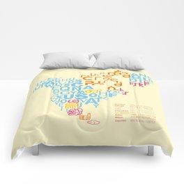 North America ~ Writing Sistems Comforters