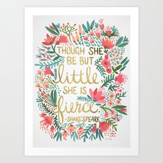Little & Fierce Art Print