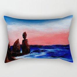 Rocky Beaches and Beautiful Skies Rectangular Pillow