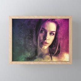 Woman Portrait (Graphic Art) Framed Mini Art Print