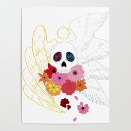 Feathers and Flowers Poster