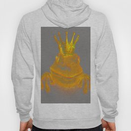 Simple Golden King Frog on Grey Day Hoody