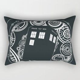 Negative Time and Space - Doctor Who inspired Rectangular Pillow