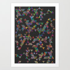 Rainbow Night Rain Art Print