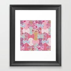 Apple core flowers Framed Art Print