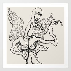 I'm a little butterfly Art Print