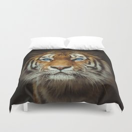 Wild Tiger with Blue eyes Duvet Cover