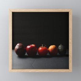 Pear Apple Tomato Orange Avocado Framed Mini Art Print