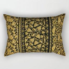 Gold black pattern Rectangular Pillow