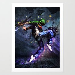 Abstract Flashy Light Effect Illustration Art Print