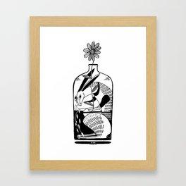 The hare in the bottle Framed Art Print