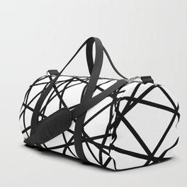 Lazer Dance Black on White Duffle Bag