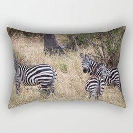 Curious Zebras! Rectangular Pillow