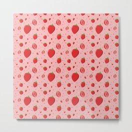 Summer Fruit Strawberry Metal Print