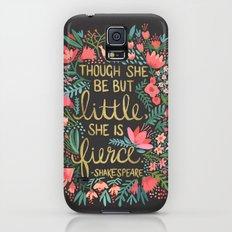 Little & Fierce on Charcoal Slim Case Galaxy S5