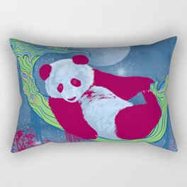 Goodnight, Panda - Colorful Starlight Night Sky Rectangular Pillow