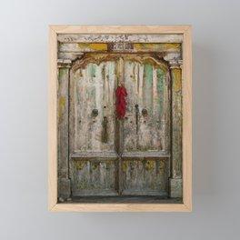 Old Ristra Door Framed Mini Art Print
