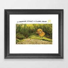 Free-range McNugget Framed Art Print