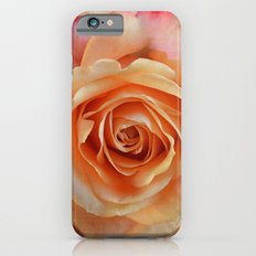 Artistic gorgeous rose with a textured background iPhone 6s Slim Case