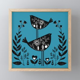 Danish Birds Bring Good Luck And A Good Life Framed Mini Art Print