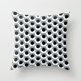 Hex shadow pattern  Throw Pillow