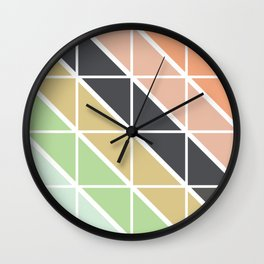 Retro Geometric Triangle Pattern Wall Clock