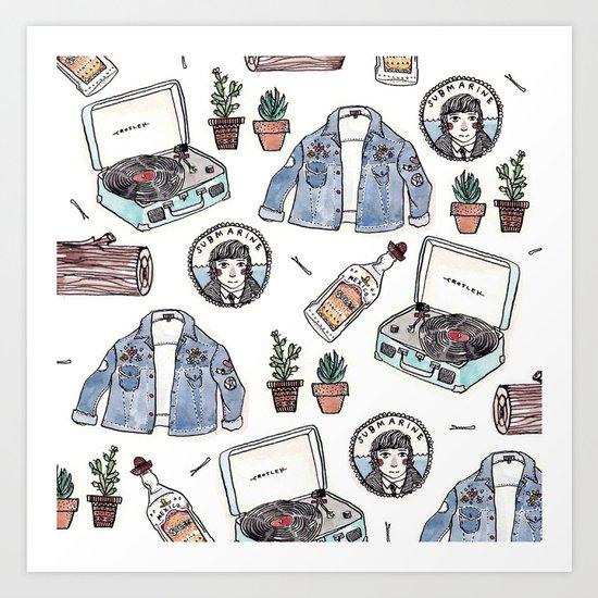 my favourite things Art Print