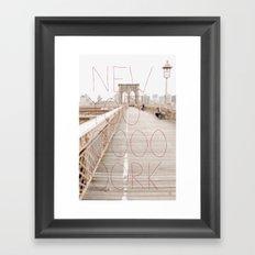 New York romantic typography vintage photography Framed Art Print