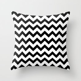 Chevron (Black & White Pattern) Throw Pillow