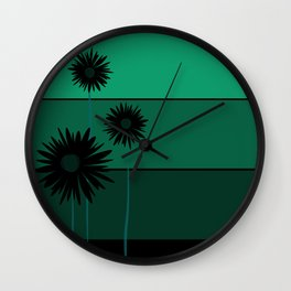 Simple flowers - pink Wall Clock