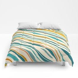 Summer Ocean / Teal & Gold Comforters