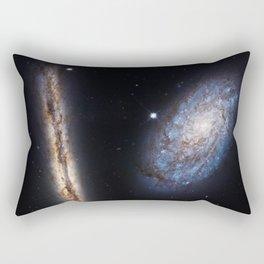Galaxies NGC 4302 and NGC 4298 Rectangular Pillow