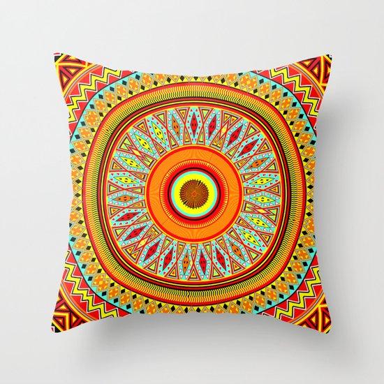 Mandala Aztec Pattern 5 Throw Pillow