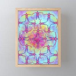 Tie Dye Tantric Framed Mini Art Print