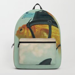 Brilliant DISGUISE - Goldfish with a Shark Fin Backpack