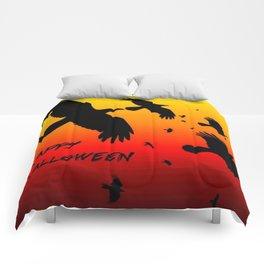Happy Halloween Murder of Crows  Comforters