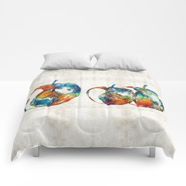 Colorful Apples by Sharon Cummings Comforters