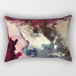 Dark Inks - Alcohol Ink Painting Rectangular Pillow