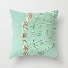 Winter Ferris Wheel  Throw Pillow