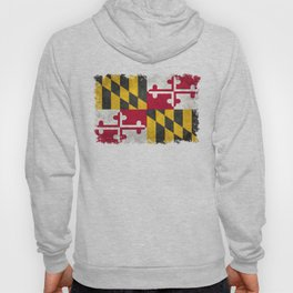 State flag of Flag of Maryland, Vintage retro style Hoody