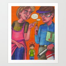 Disco Duncan and Pyrotechnician Art Print