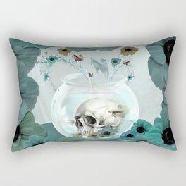 Looking glass skull Rectangular Pillow