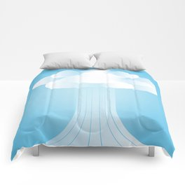 Cloudy Blue Sky Comforters