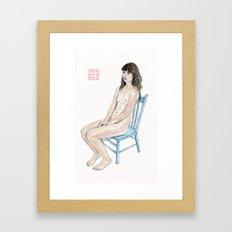 The Blue Chair Framed Art Print