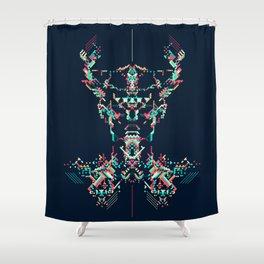Space Viking Shower Curtain