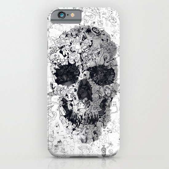 Doodle Skull BW iPhone & iPod Case