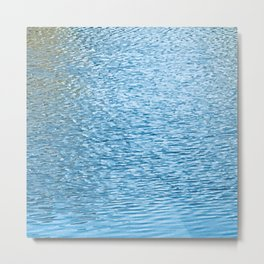 Lake Reflections With Splashes of Shaded Sunlight Abstract Metal Print