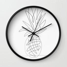 One Line Pineapple Wall Clock